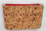 Devon Zipper Pouch - Cork/Blush/Flowers