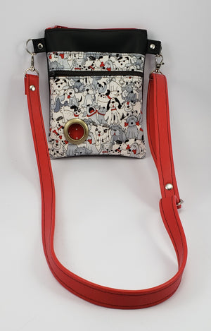 Petey Dog Walking Bag - Black/Red/Dog Party