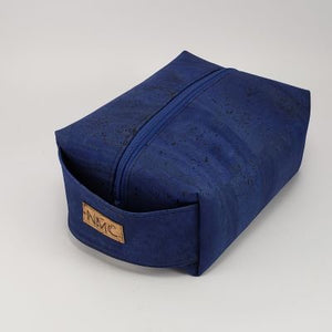 Cork Dopp Kit - Cobalt Blue