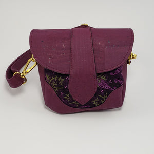 Dollie Crossbody/Purple Cork/Pink and Green Flowers