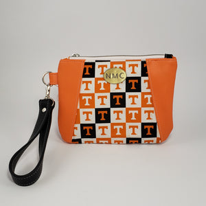 Sunshine Wristlet - Vinyl & Cotton/Orange/Tennessee Volunteers