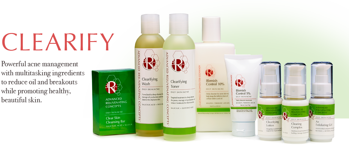 ARC SKin Care Clearifying Products for Oily Skin and Acne