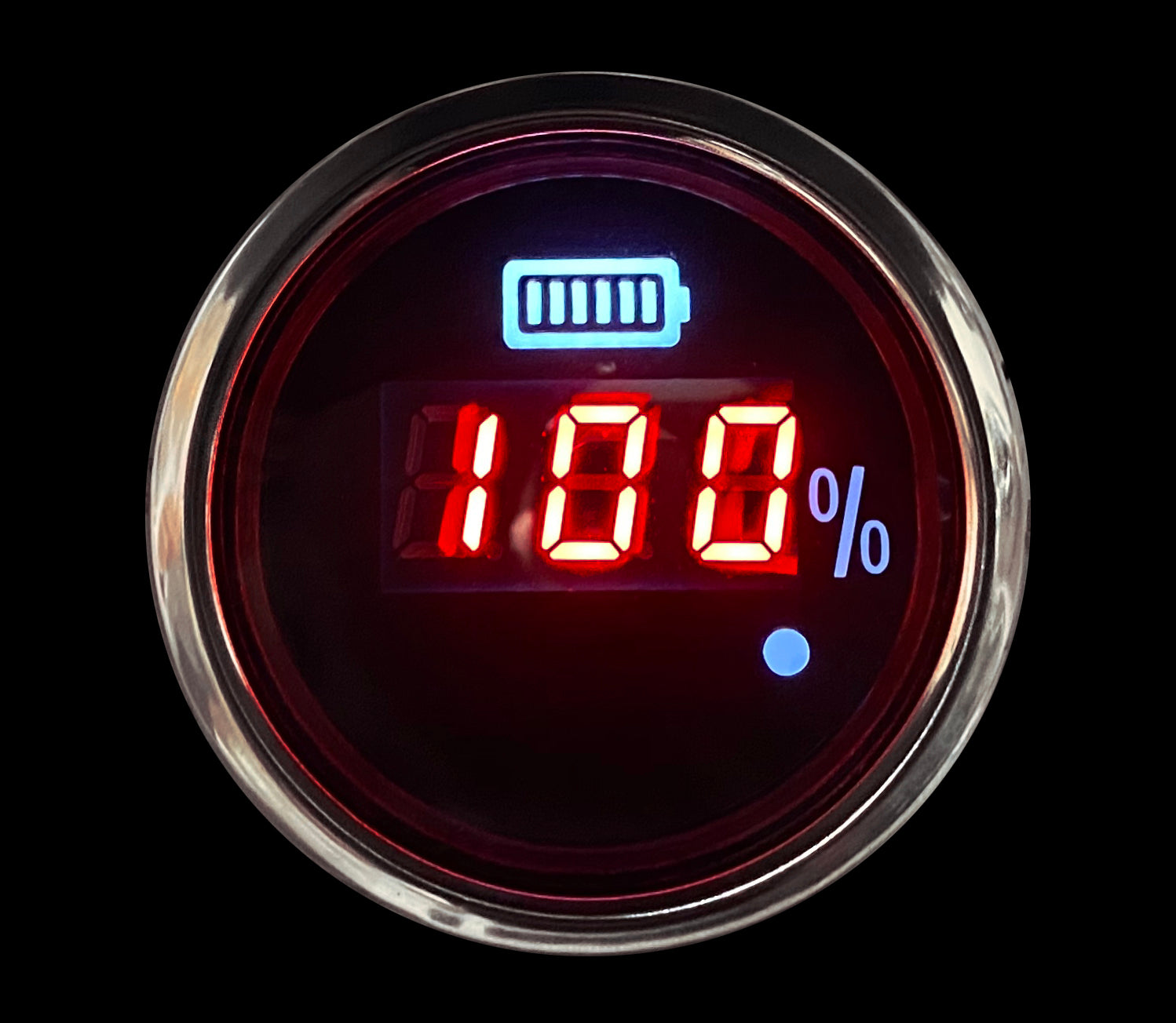 "2-1/16"" Waterproof Digital Golf Cart state of Charge Meter 36/48 Volt"