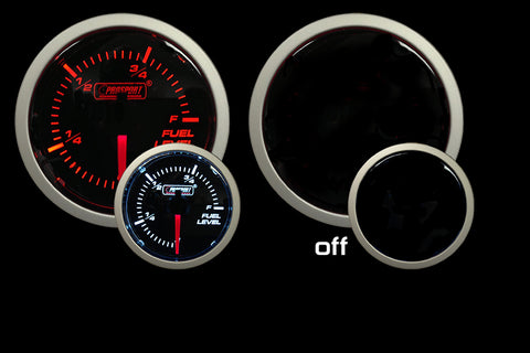 "2-1/16"" Amber / White - Fuel Level Gauge"
