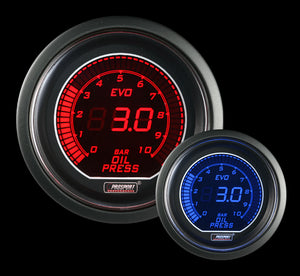 52mm Evo Electrical Oil Pressure Gauge-BAR
