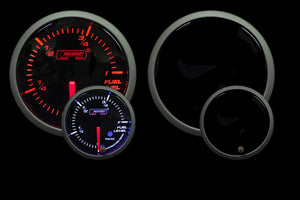 "2-1/16"" Premium Amber / White Fuel Level Gauge"