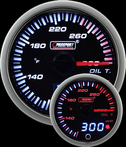 "2-3/8"" JDM Electrical Oil Temperature Gauge"