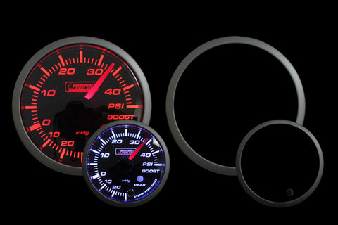 Prosport Premium Amber / White Electric Boost gauge 45 PSI
