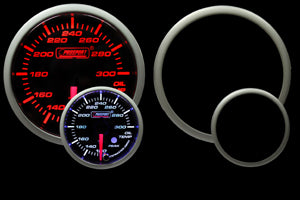 "2-3/8"" Amber/White Premium Oil Temperature Gauge"