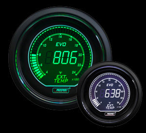 "2-1/16"" Evo Electrical Green and White Exhaust Gas Temperature Gauge-"