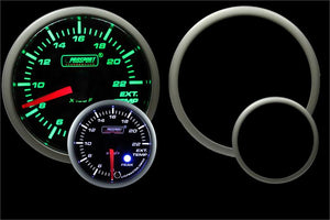 "2-1/16"" Green/White Premium EGT Gauge"