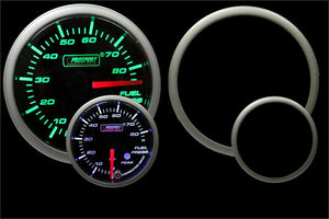 "2-1/16"" Green/White Premium Fuel Pressure Gauge"