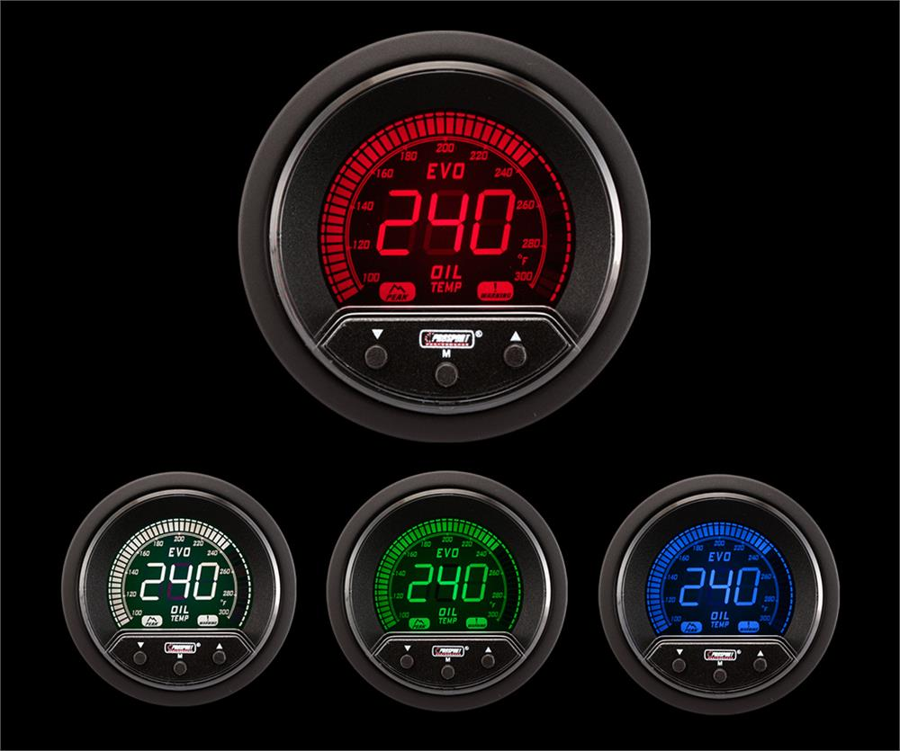 "2-1/16"" Premium Evo Electrical Oil Temperature Gauge"