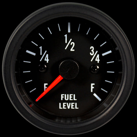 Clear lens 52mm Performance Fuel Level gauge White LED