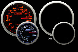 "2-1/16"" Amber / White - Electrical Exhaust Gas Temperature Gauge"