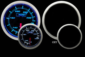 "2-1/16"" Blue/White Electrical Oil Temperature Gauge"