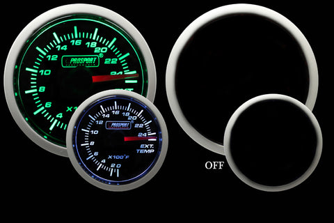 "2-1/16"" Green/White Exhaust Gas Temperature Gauge"