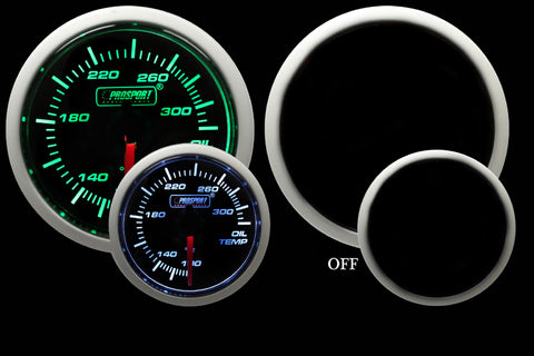 Green/White Oil Temperature Gauge