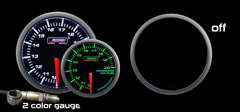 "2-1/16"" Green/White Premium Wideband Air Fuel Ratio kit"