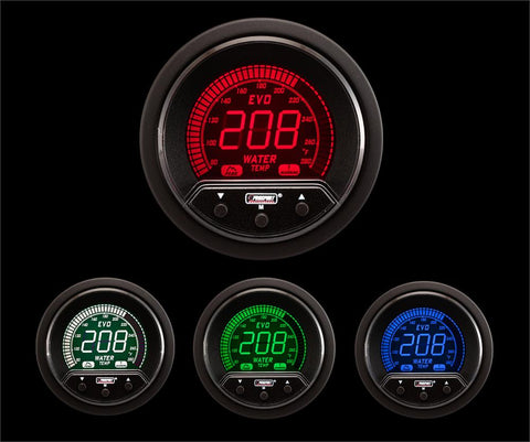 "2-1/16"" Premium Evo Electrical Water Temperature Gauge"