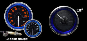 "2-1/16"" Crystal Blue/White Wideband Air Fuel Ratio kit"