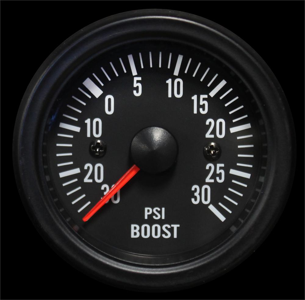 Clear lens White LED boost gauge