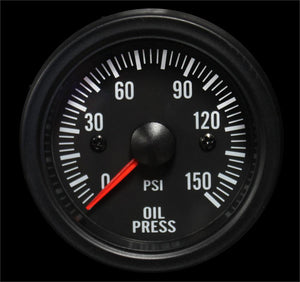 Clear lens 52mm Performance Oil pressure gauge White LED