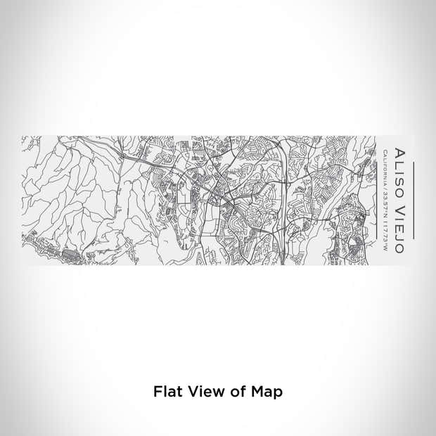 Aliso Viejo - California Engraved Map Insulated Cup in Matte White 1