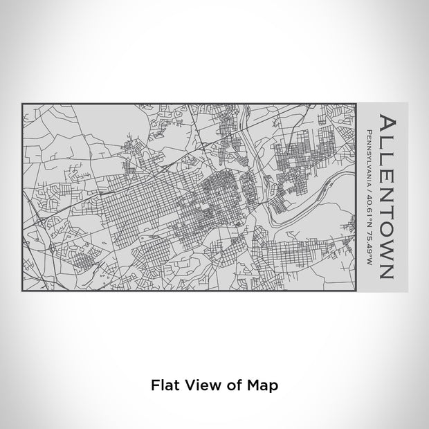 Allentown - Pennsylvania Engraved Map Insulated Bottle 1