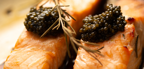 Salmon and caviar? That's right! Combine any fish dish or sushi with the best caviar of your choice from The Caviar House.