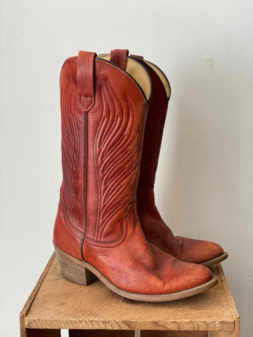 Vintage FRYE American Classics Western Boots Cowboy Boots Size 8.5D