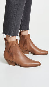 Marc Fisher Western Suede Ankle Boots 8