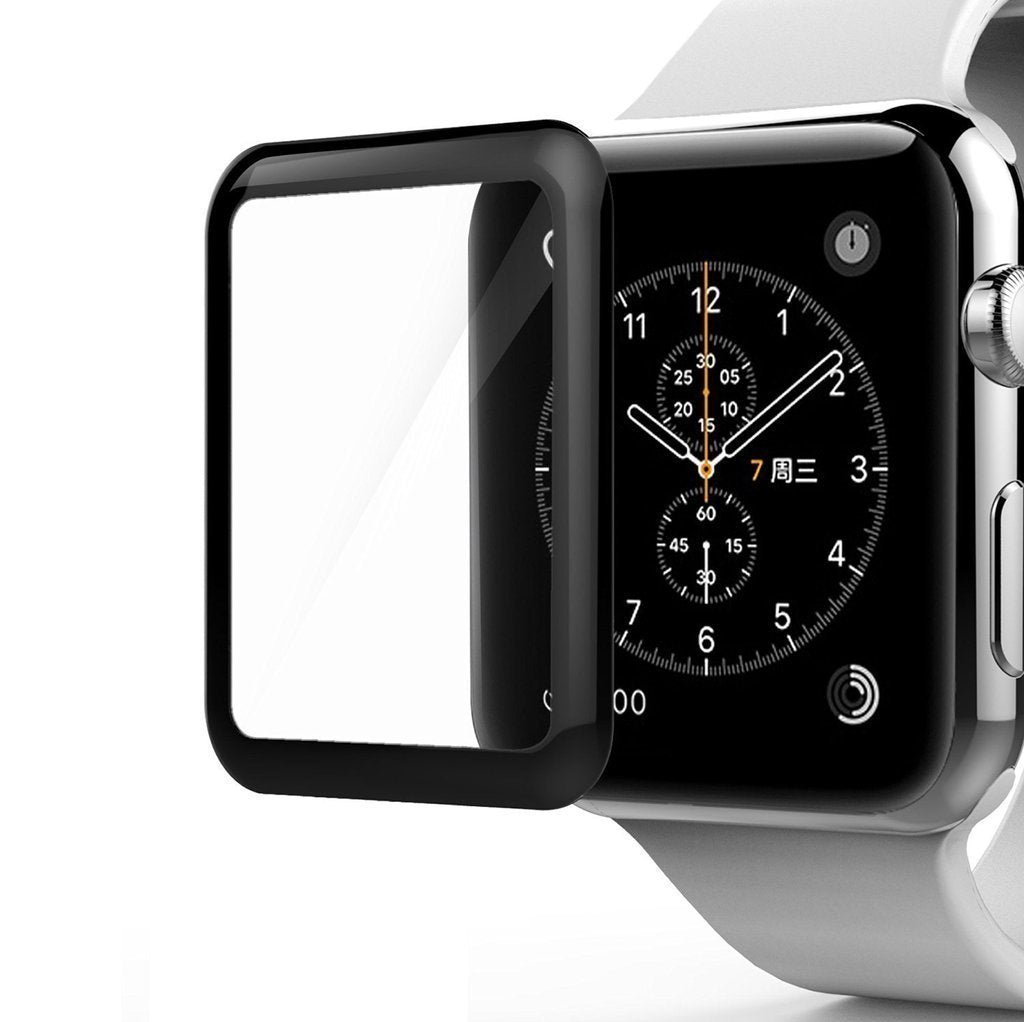 42mm 3D Curved Edge 9H Hardness, Anti-Scratch Resistant Full Screen Coverage Tempered Glass for Apple Watch 42mm Series 3/2/1/Cellular