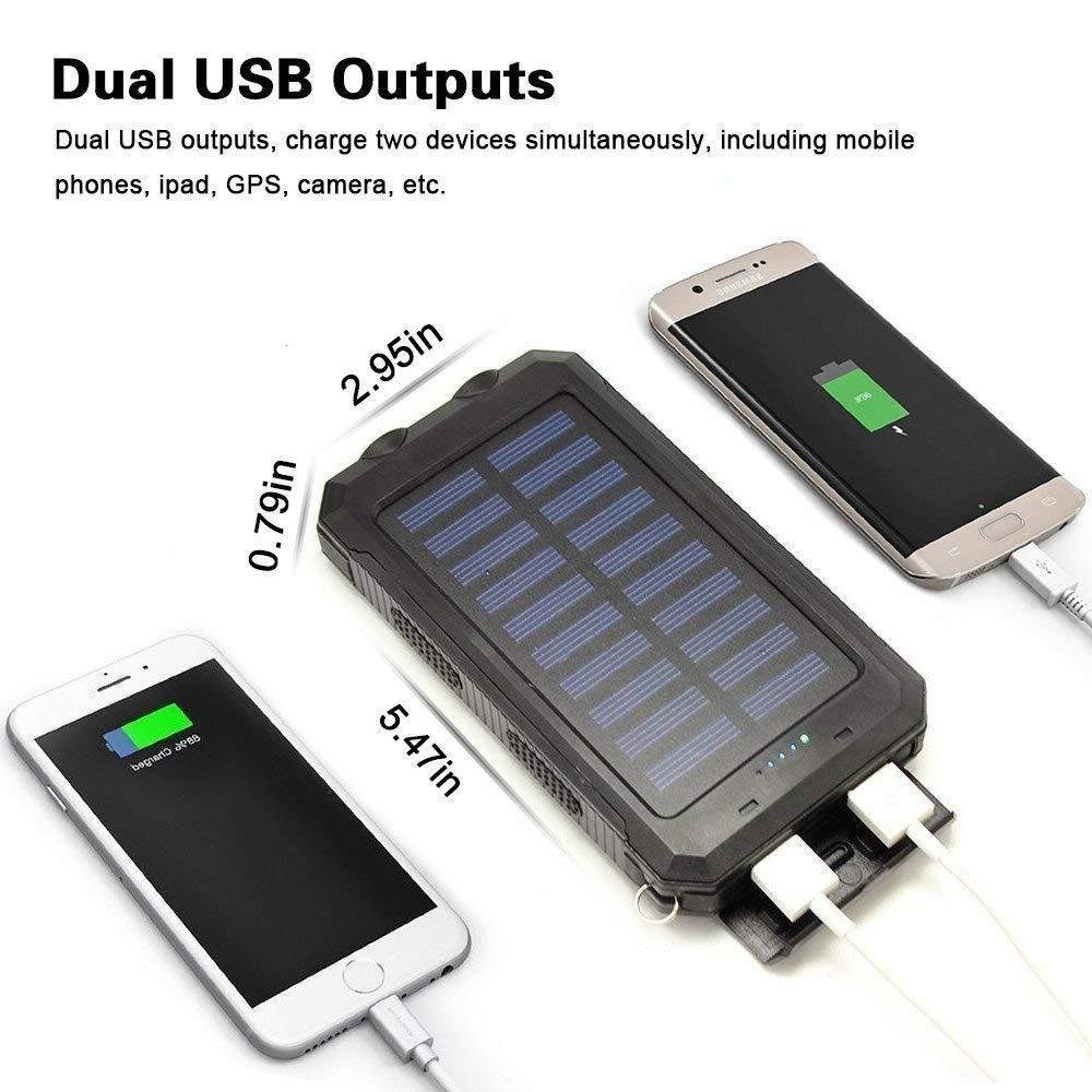 Rugged Solar Power Bank - 10000mAh (6 Months Warranty) Android/iOS Compatible