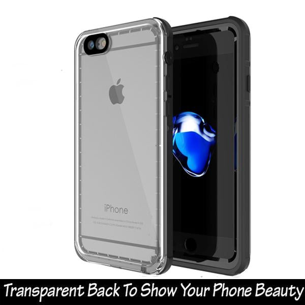 Waterproof Black Cover Case Cover for Apple iPhone 8 Plus