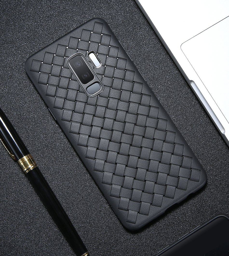 Galaxy S9 Plus Woven Design Case- Black