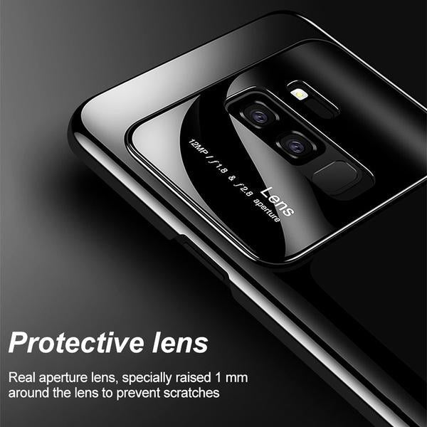 Luxury Tempered Glass Cover For Samsung Galaxy S9 Matte-Black