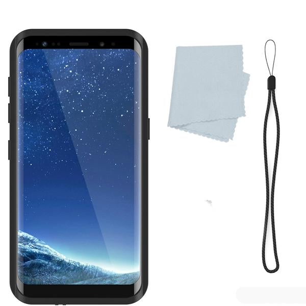 Galaxy S8 Plus Shockproof/Waterproof Case. StudStar Black Thin/ 6.6ft Underwater IP68 Snow Proof