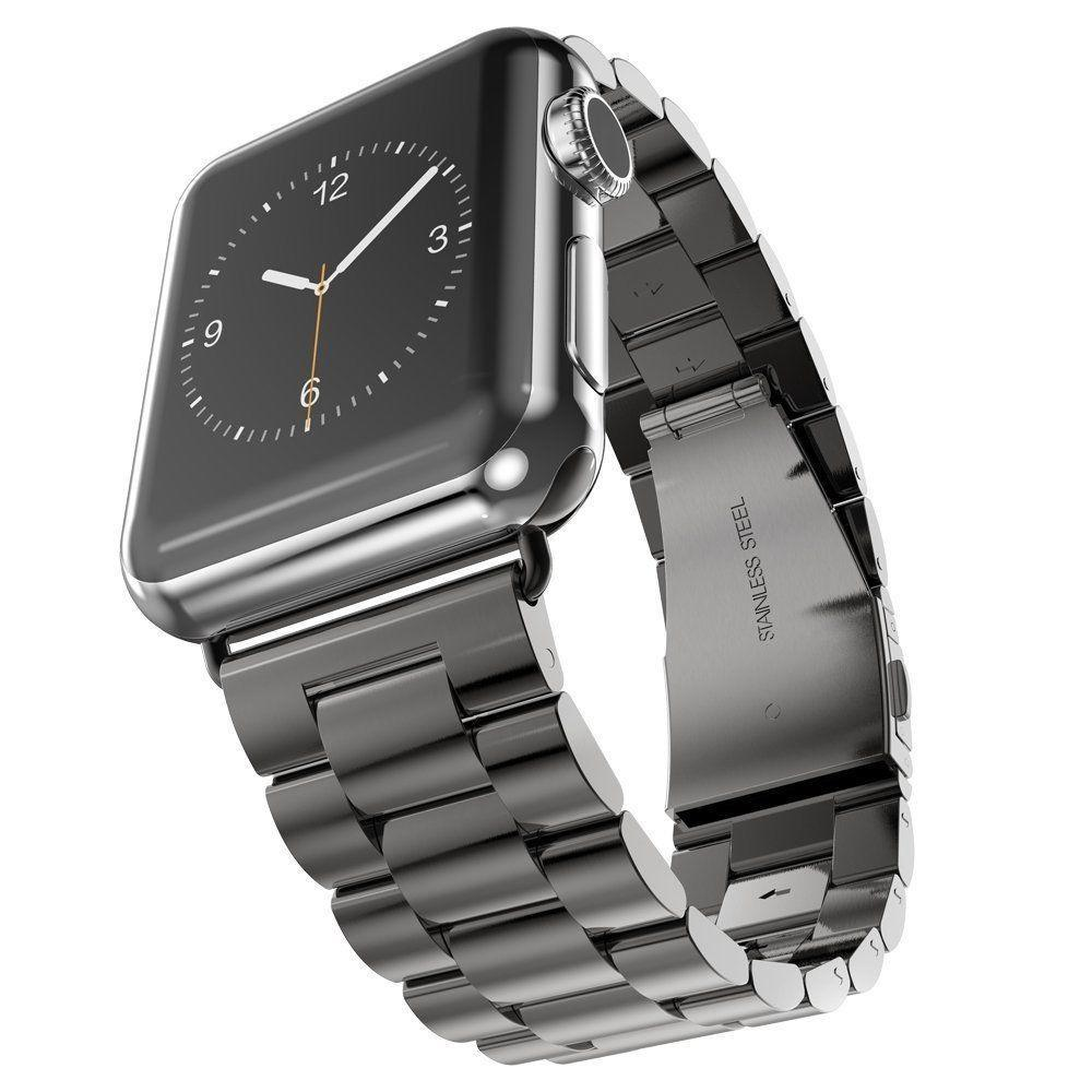 Classic Stainless Steel Watchband For Apple iWatch 4/ 3/ 2/ 1 Cellular