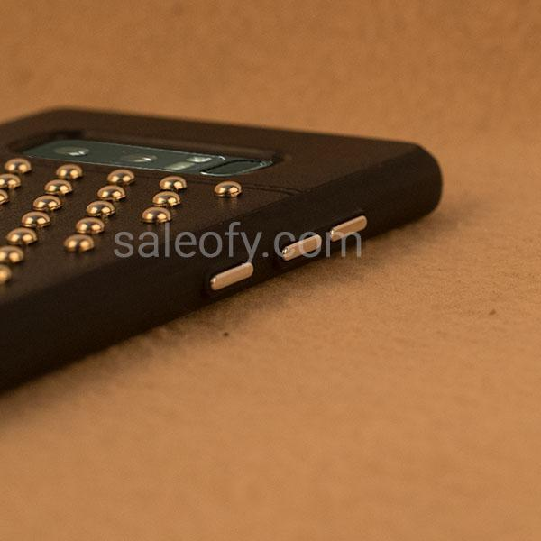 Black Creative Case for Samsung Note 8- Stud