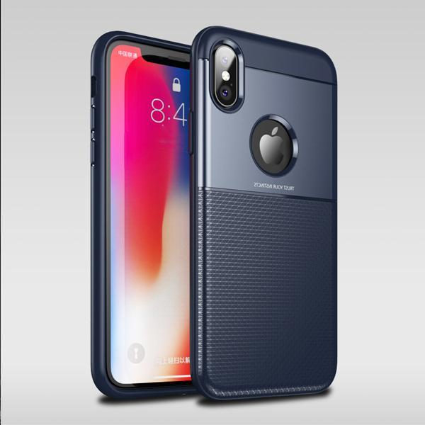 iPhone XS Max Minimalist Slim Protective- Black/ Blue