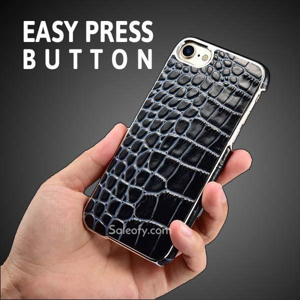 iPhone 7 Electroplating Alligator Embossed Genuin Back Case Cover