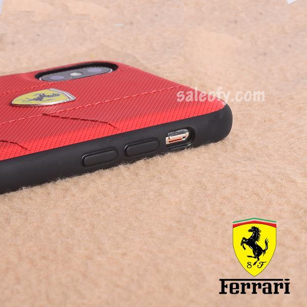 Original Ferrari Case Cover for iPhone XS/X - Red (Retail Packaging with Verification Code)