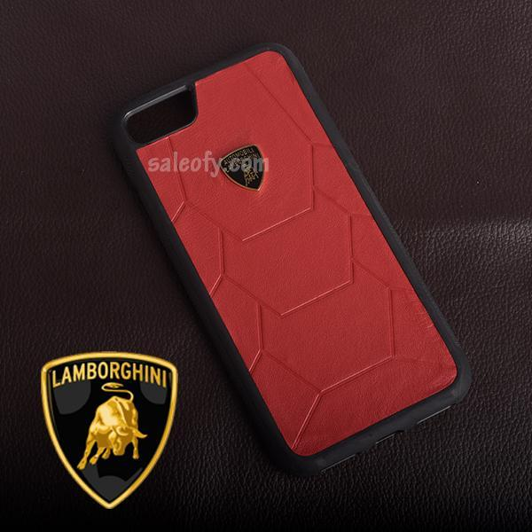 "iPhone 7 Original Red Black Automobili Lamborghini Cover for Apple [4.7""]"