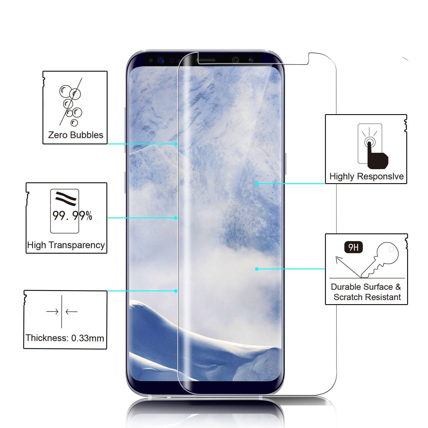White Creative Cover Case for Samsung Galaxy S9