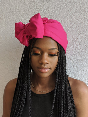 Pink Cotton Turban - SOL-07