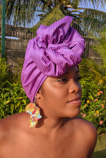 Pink Striped Turban - STR-03