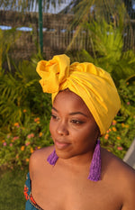 Yellow Cotton Turban - SOL-04