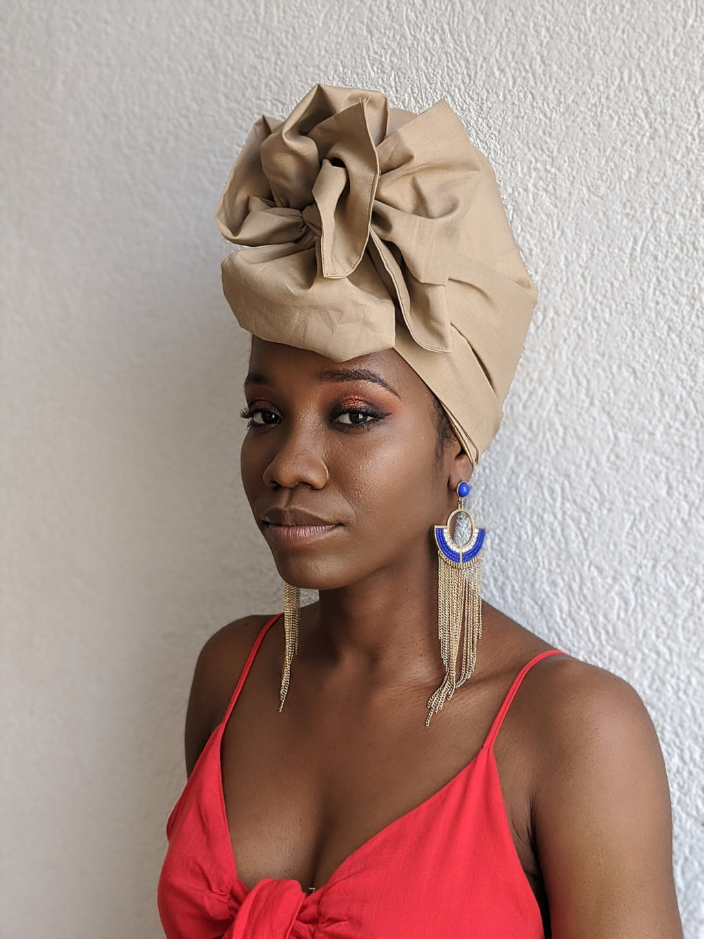 Tan Cotton Turban - SOL-02