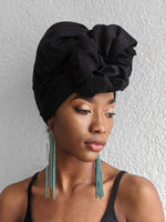 Black Cotton Turban - SOL-01